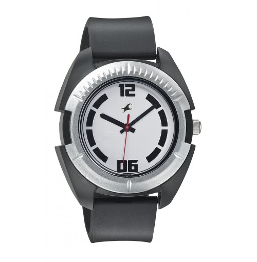 FASTRACK MEN SILICON ANALOG BLACK WATCHES - 3116PP02