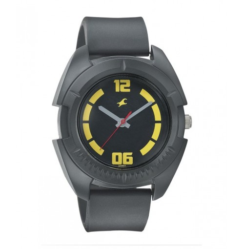 FASTRACK MEN SILICON ANALOG BLACK WATCHES - 3116PP03