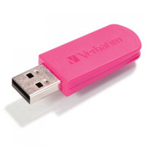 8GB Mini USB Flash Drive - Hot Pink