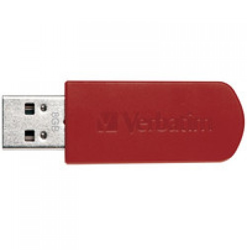 8GB Mini USB Flash Drive - Red
