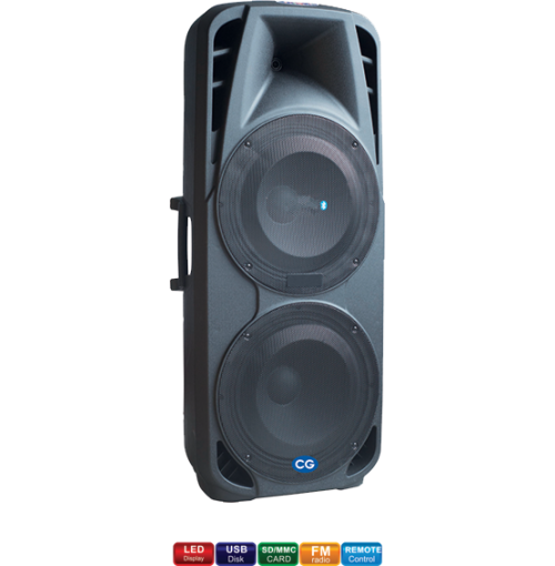 CG 15inch Double Trolley Speaker CG-TS15B01D