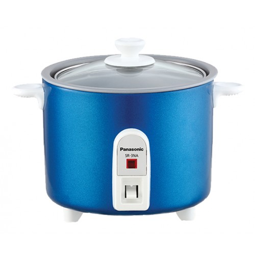 Panasonic 0.3 L 1.5-Cup Automatic Baby Rice Cooker - SR-3NA-Blue
