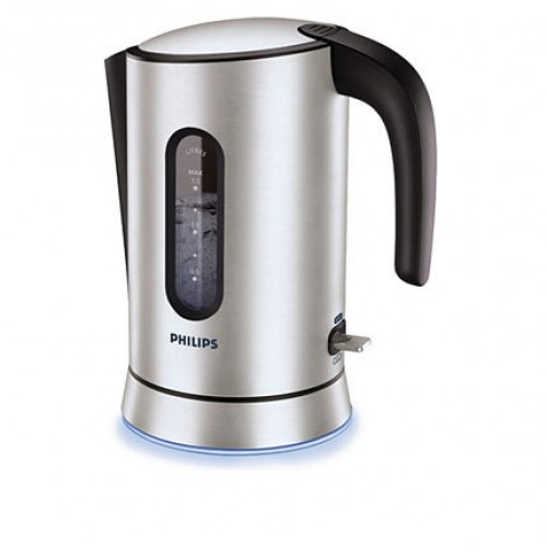 Philips Aluminium Collection Kettle HD4690/00 1.5 l 2400 W Blue light base Aluminium Spring lid