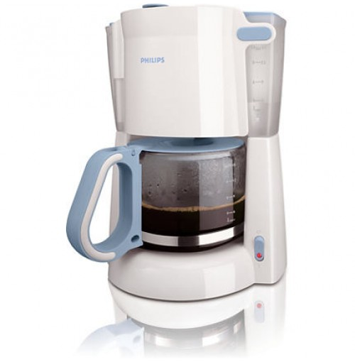 Philips Daily Collection Coffee maker HD7448/70 With glass jug White & blue