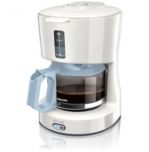 Philips Coffeemaker HD7450/70 0.6 liter 650 W white blue