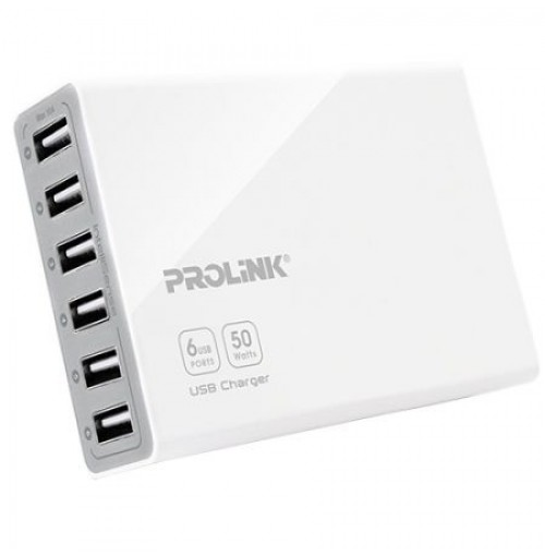 Prolink 6-Port USB Charger with Intellisense PCU6101