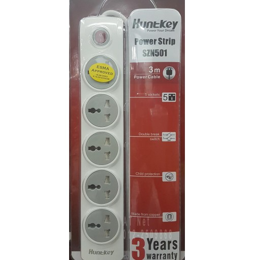 HUNTKEY 5 PLUG POWER STRIP SZN501-2