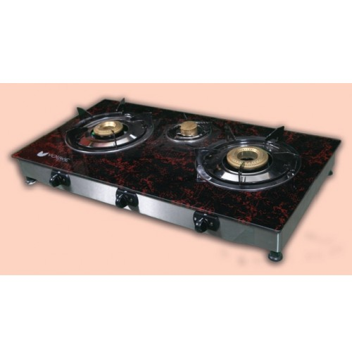 Youwe Glass Top Gas Stove - 3 Burners YW-GT-003S